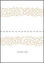 Soho Letterpress Thank You Card Fold Design Small