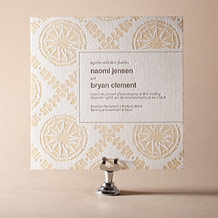 Solina Letterpress Invitation Design Small