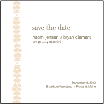 Solina Letterpress Save The Date Design Small