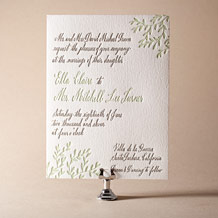 Sonoma Calligraphy Letterpress Invitation Design Small