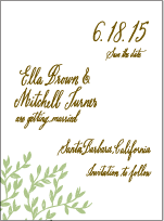 Sonoma Calligraphy Letterpress Save The Date Design Small