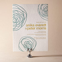 Spinnerette Letterpress Invitation Design Small