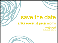 Spinnerette Letterpress Save The Date Design Small