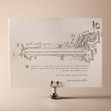 Splendor Letterpress Invitation Design Small
