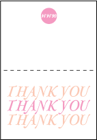 Storybook Romance Letterpress Thank You Card Fold Design Small