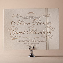Studebaker Letterpress Invitation Design Small