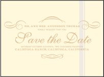 Studebaker Letterpress Save The Date Design Small