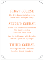 Surfside Letterpress Menu Design Small