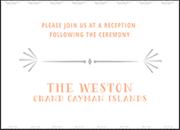 Surfside Letterpress Reception Design Small