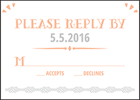 Surfside Letterpress Reply Design Small