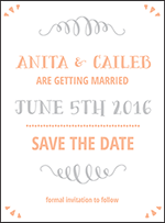 Surfside Letterpress Save The Date Design Small