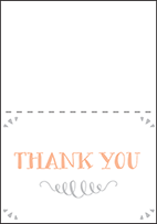 Surfside Letterpress Thank You Card Fold Design Small