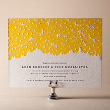 Sweet Daisy Letterpress Invitation Design Small