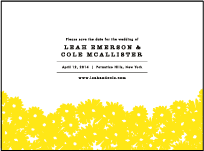 Sweet Daisy Letterpress Save The Date Design Small