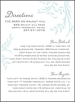 Sweet Laurel Letterpress Direction Design Small