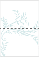 Sweet Laurel Letterpress Placecard Fold Design Small