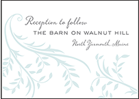 Sweet Laurel Letterpress Reception Design Small
