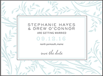 Sweet Laurel Letterpress Save The Date Design Small