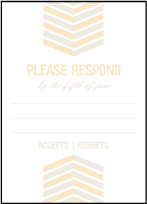 Sweet Lorna Letterpress Reply Design Small