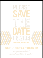 Sweet Lorna Letterpress Save The Date Design Small