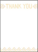 Sweet Lorna Letterpress Thank You Card Flat Design Small