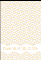 Sweet Lorna Letterpress Thank You Card Fold Design Small