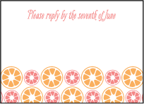 Sweet Summer Letterpress Reply Design Small