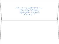 Tailored Letterpress Envelope Design Small