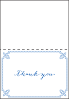 Tailored Letterpress Thank You Card Fold Design Small