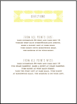 Tapestry Letterpress Direction Design Small