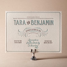 Tara Letterpress Invitation Design Small