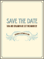Tara Letterpress Save The Date Design Small