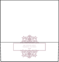 Tasha Letterpress Envelope Design Small