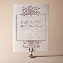 Tasha Letterpress Invitation Design Small