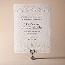 Tennyson Letterpress Invitation Design Small
