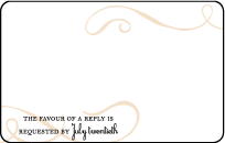 Tennyson Letterpress Reply Postcard Front Design Small