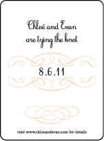 Tennyson Letterpress Save The Date Design Small