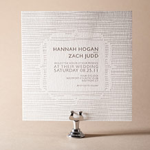 Threaded Letterpress Invitation Design Small