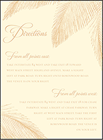 Traditional Palm Letterpress Direction Design Small