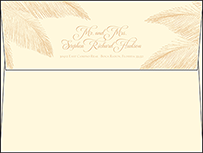 Traditional Palm Letterpress Envelope Design Small