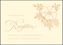 Traditional Palm Letterpress Reception Design Small
