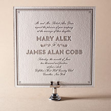 True Vintage Letterpress Invitation Design Small