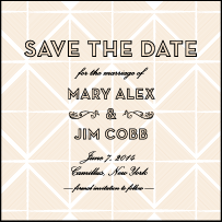 True Vintage Letterpress Save The Date Design Small