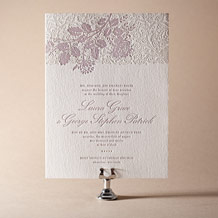 Tuileries Letterpress Invitation Design Small