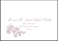 Tuileries Letterpress Reply Envelope Design Small