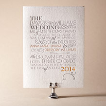 Typology Letterpress Invitation Design Small