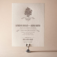 Under the Tree Letterpress Invitation Design Small