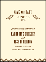 Under the Tree Letterpress Save The Date Design Small