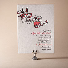 Urban Ink Letterpress Invitation Design Small