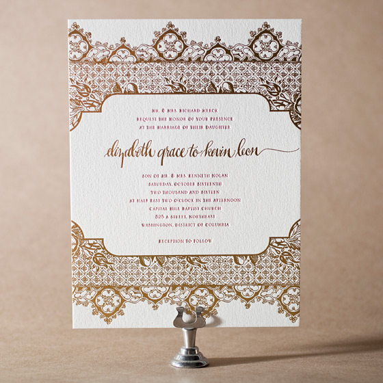 Ursula Letterpress Invitation Design Small